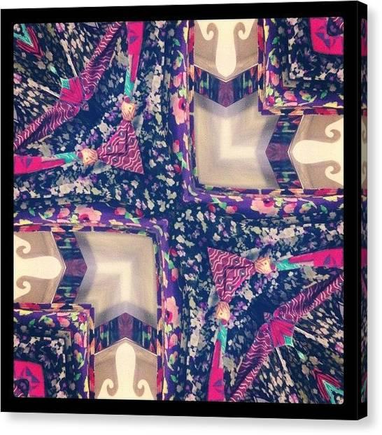 Symmetrical Canvas Print - #mirrorgram #fashion #day9 by Dewi Maile Lim