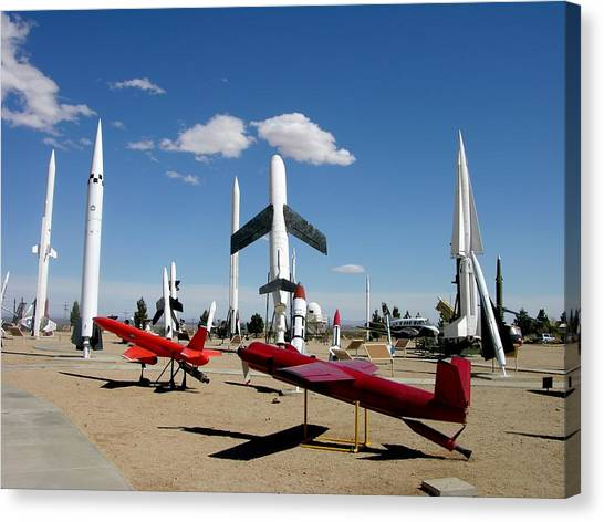 Missles Canvas Print - Missile Park  by Keith Stokes