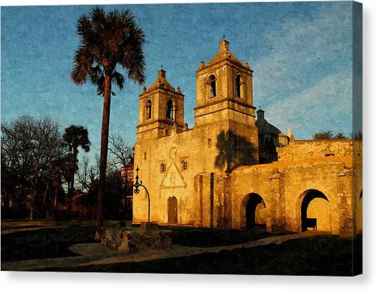 Mission Concepcion In Oil Canvas Print