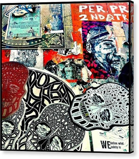 Graffiti Walls Canvas Print - Mission by Kim Hudson