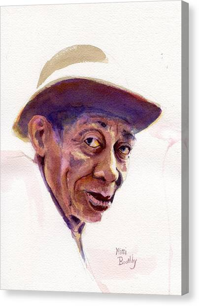 Mississippi John Hurt Canvas Print by Mimi Boothby
