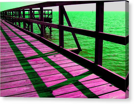 Mississippi  Pier - Ver. 5 Canvas Print by William Meemken