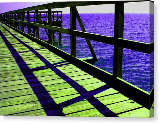 Mississippi  Pier - Ver. 7 Canvas Print by William Meemken