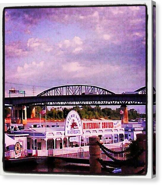 Saints Canvas Print - Mississippi Riverboat by Anna Beasley