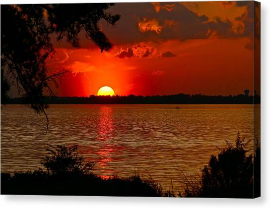 Mississippi Sunset 3 Canvas Print