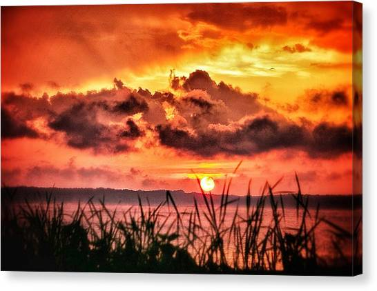 Mississippi Sunset At The Ross Barnett Reservoir 1 Canvas Print