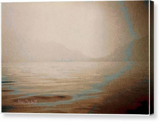 Misty Day Canvas Print by Jean Paul LeBlanc