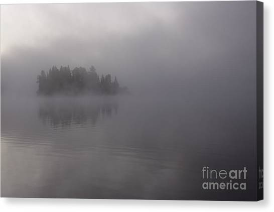 Misty Evergreen Island Canvas Print by Chris Hill
