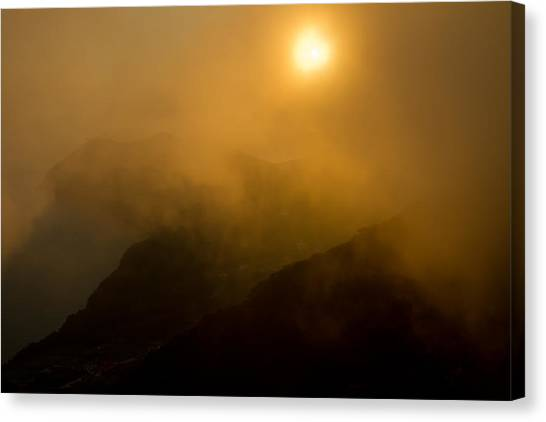 Misty Hongpo Sunset South Korea Canvas Print