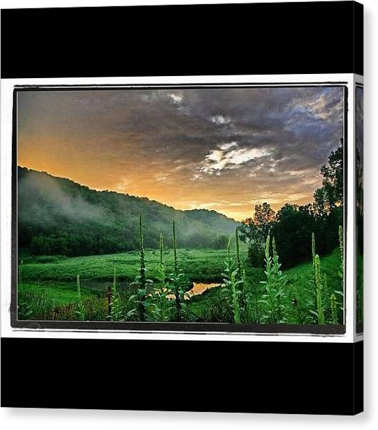 Wisconsin Canvas Print - Misty Mapledale At Sundown | #viroqua by Tony Macasaet
