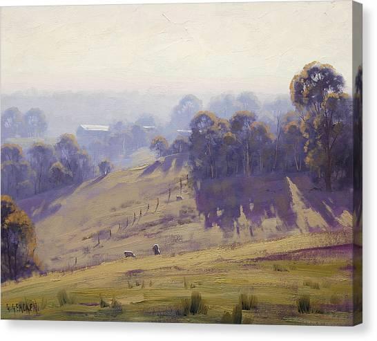 Victoria Canvas Print - Misty Morning Cottles Bridge by Graham Gercken