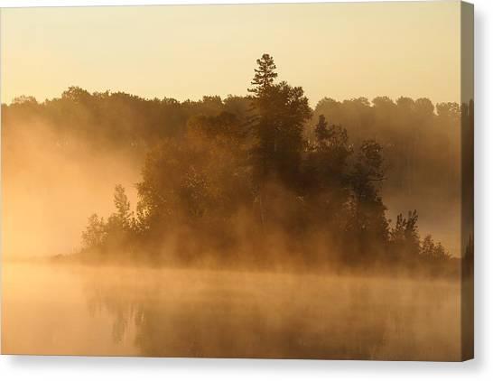 Misty Morning Canvas Print by George Ramondo