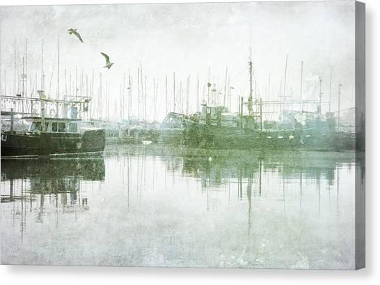 Misty Morning On The Boat Harbour Canvas Print