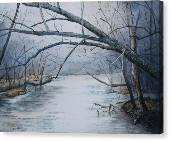 Canvas Print - Misty Morning On The Red River by Patsy Sharpe