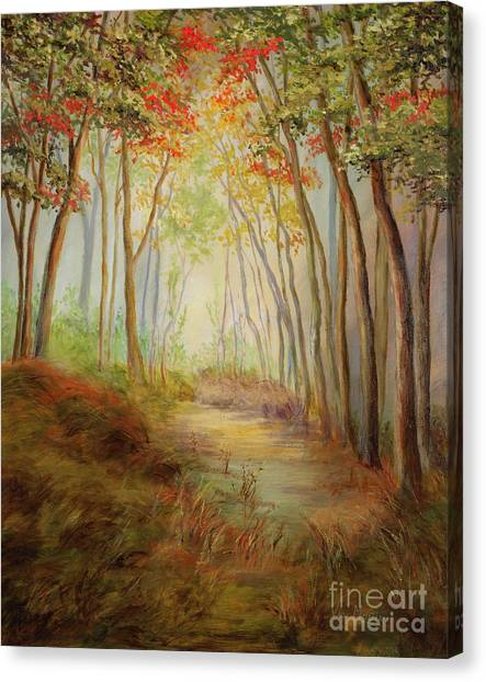 Misty Path Canvas Print