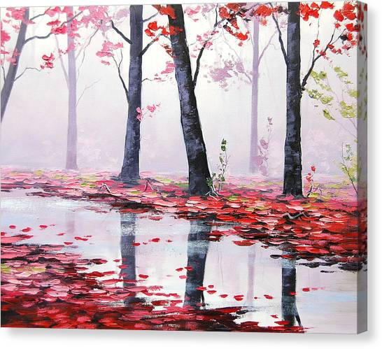Misty Pink Canvas Print by Graham Gercken