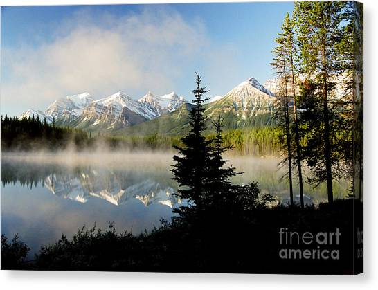 Misty Reflections Canvas Print by Frank Townsley