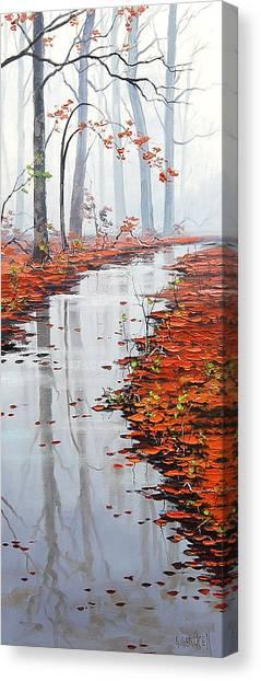 Maple Tree Canvas Print - Misty Tream by Graham Gercken