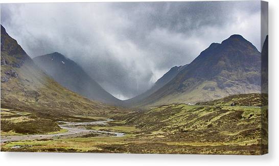 Misty Valley Canvas Print