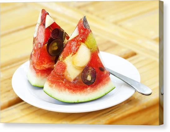 Sorbet Canvas Print - Mixed Fruit Watermelon by Anek Suwannaphoom