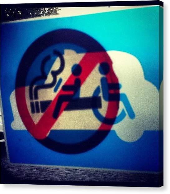 Largemouth Bass Canvas Print - Mixed Signals! #nosmoking #taxi #sign by Naj Bass