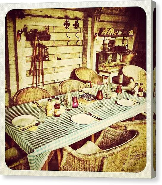 Tables Canvas Print - Mmmmm Ready For Our Bbq-rehearsal With by Wilbert Claessens