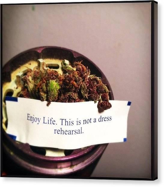 Marijuana Canvas Print - #mmmp #medicinal #wisdom #purp #dank by Meeshi Sense