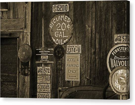 Model A Parking Canvas Print by Terrie Taylor