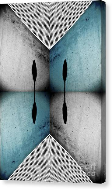 Modern Abstract With An African Theme 3. Canvas Print by Emilio Lovisa