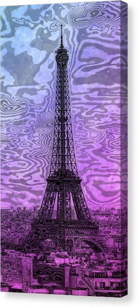 Contour Canvas Print - Modern-art Eiffel Tower 14 by Melanie Viola