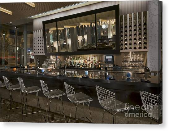 Modern Bar Canvas Print by Robert Pisano