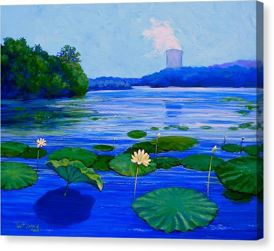 Canvas Print featuring the painting Modern Mississippi Landscape by Jeanette Jarmon