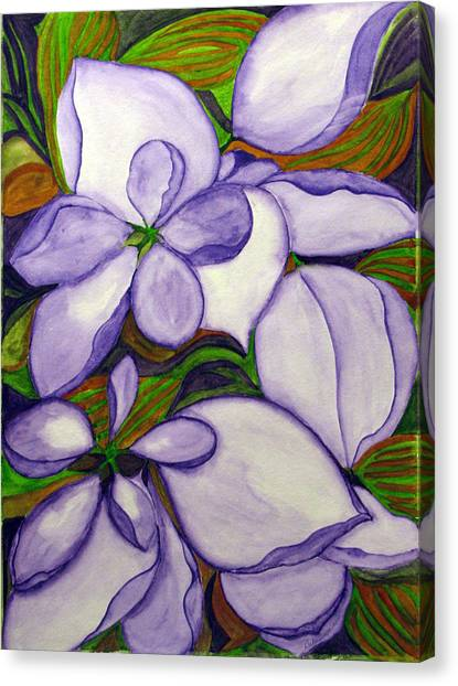 Modern Mussaenda Canvas Print