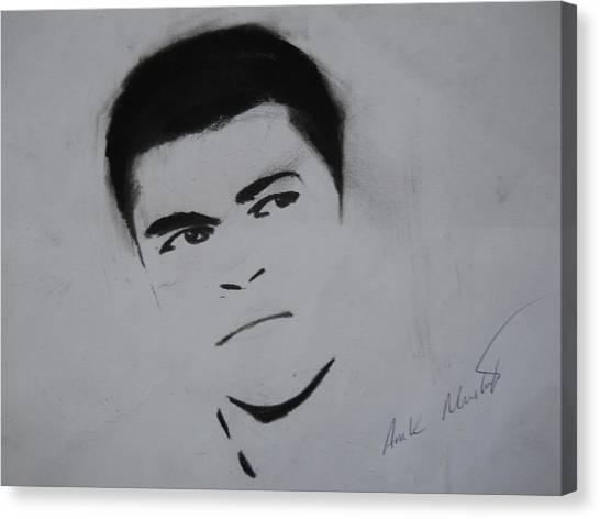Joe Frazier Canvas Print - Mohammed Ali by Ahmed Mustafa