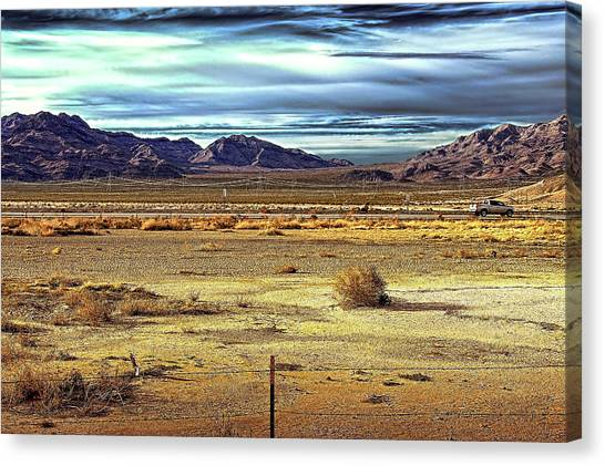 Mojave Desert Canvas Print by Andre Salvador