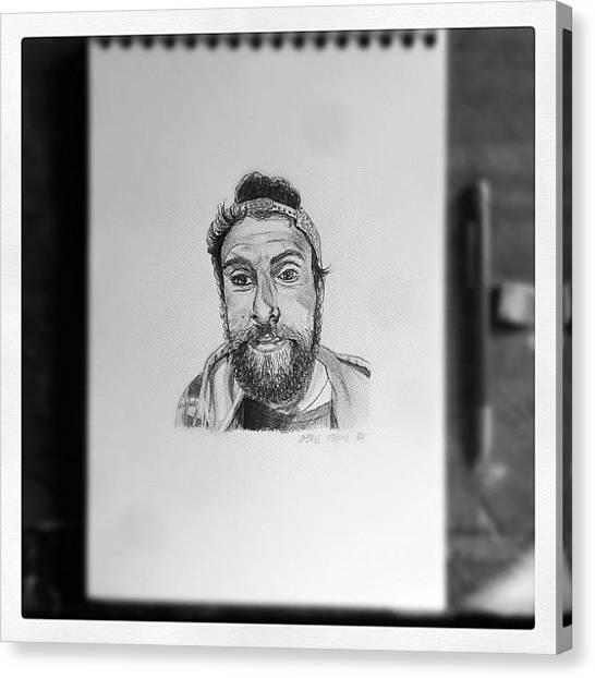 War Canvas Print - Mojon#art#canvas #pencil #sketchbook by Art War