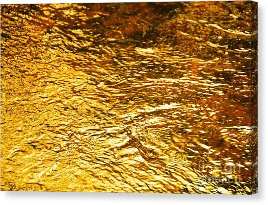 Molten Gold Canvas Print
