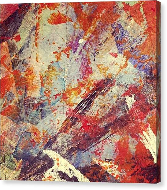 Flames Canvas Print - Molten Lava by Nic Squirrell