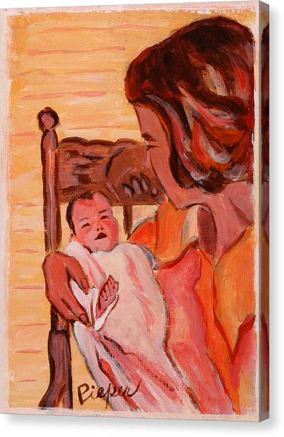 Mom And Me In Hazleton Pennsylvania  Canvas Print
