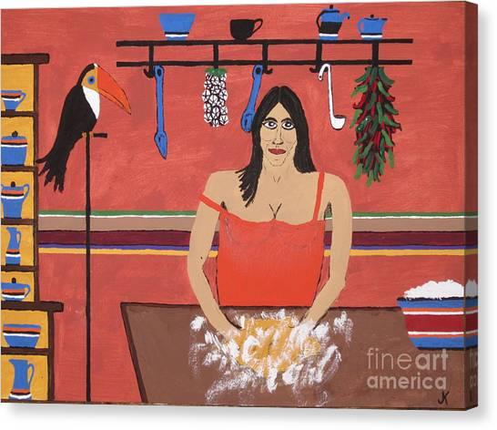 Cornbread Canvas Print - Mona And Big Ed  by Jeffrey Koss