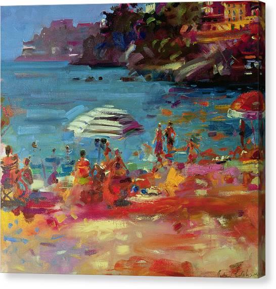Taxes Canvas Print - Monaco Coast by Peter Graham
