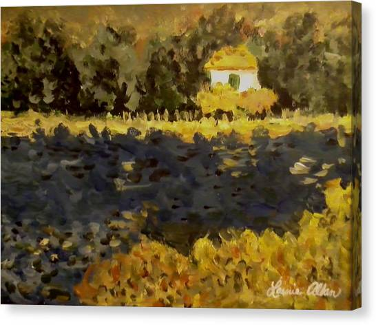 Monet House Canvas Print by Laurie Allan
