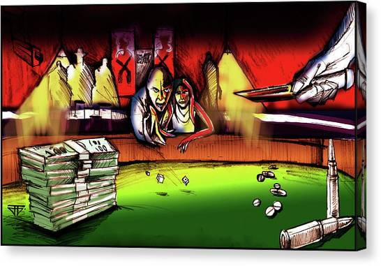 Money Stacks Canvas Print