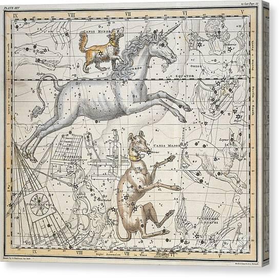 Celestial Canvas Print - Monoceros by A Jamieson