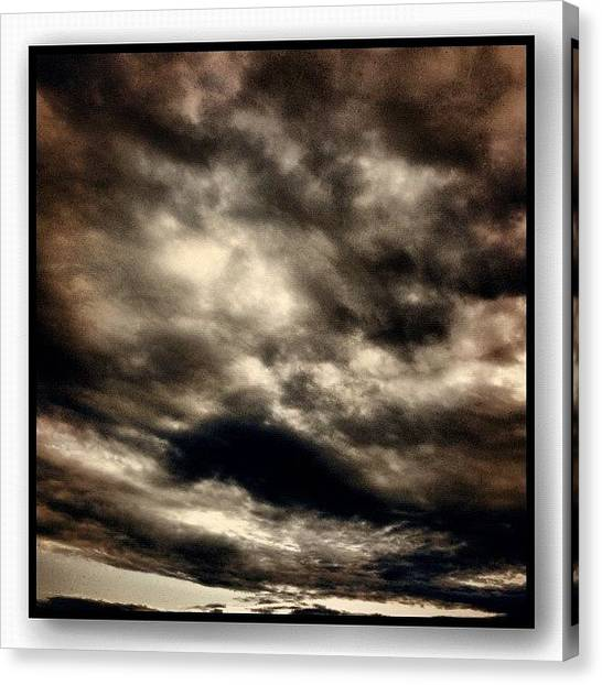 Storms Canvas Print - Monsoon by Paul Cutright