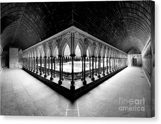 Mont Saint Michel Monastery Inner Court Canvas Print