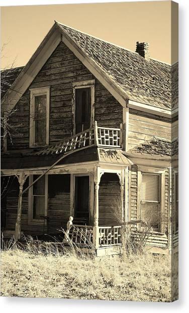 Montana Last Breath Canvas Print by William Kelvie
