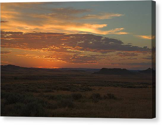 Canvas Print - Montana Sunset by Larry Robinson