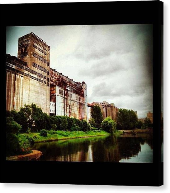 Factories Canvas Print - #montreal #quebec #vieuxport by Isabel Poulin
