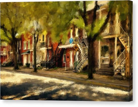 Montreal Street Canvas Print